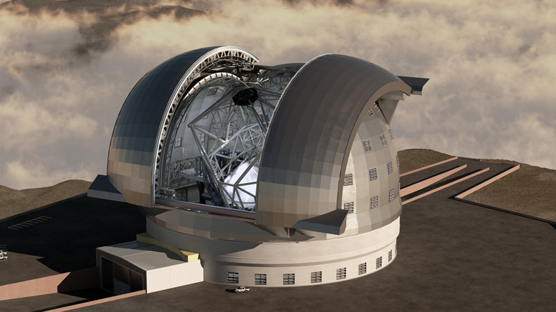 This is an artist's rendering of the European Extremely Large Telescope.     Photo: Ars Electronica/Flickr