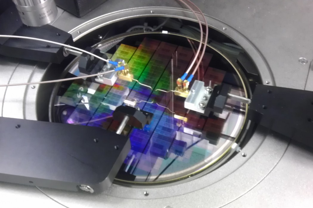 An IBM wafer fabricated using graphene. Photo Cred: IBM