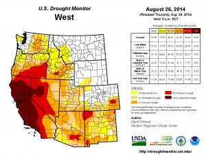 "Nearly 82% of the state of California is facing ""extreme"" drought while 58% of the state is facing still worse ""exceptional"" drought conditions."