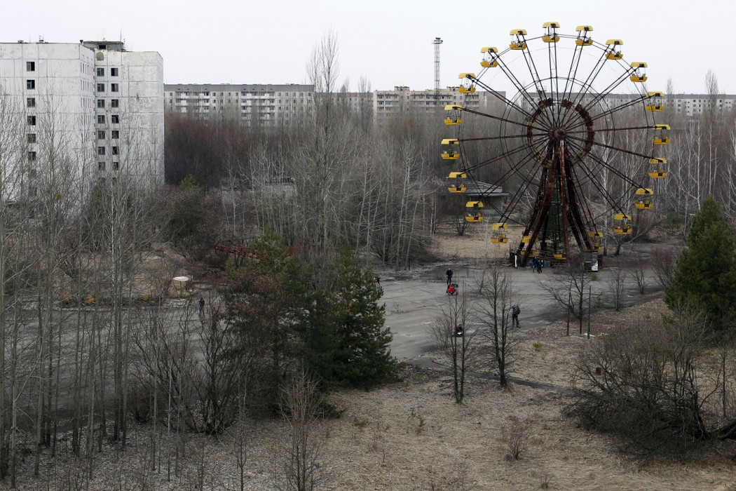 A view of the abandoned city of Prypiat, near the Chernobyl nuclear power. PC Thomas Sheridan