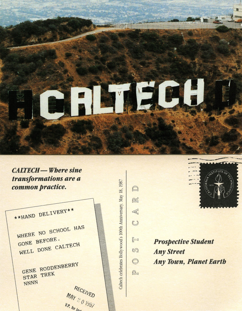 Caltech The Hollywood Sign Calvin Techer Revealed