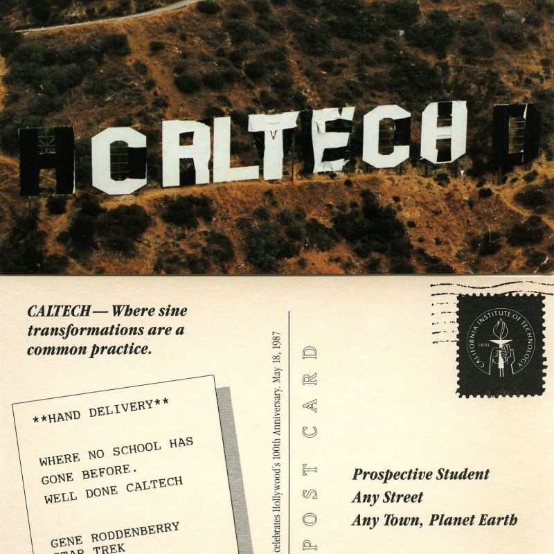 Caltech math science essay