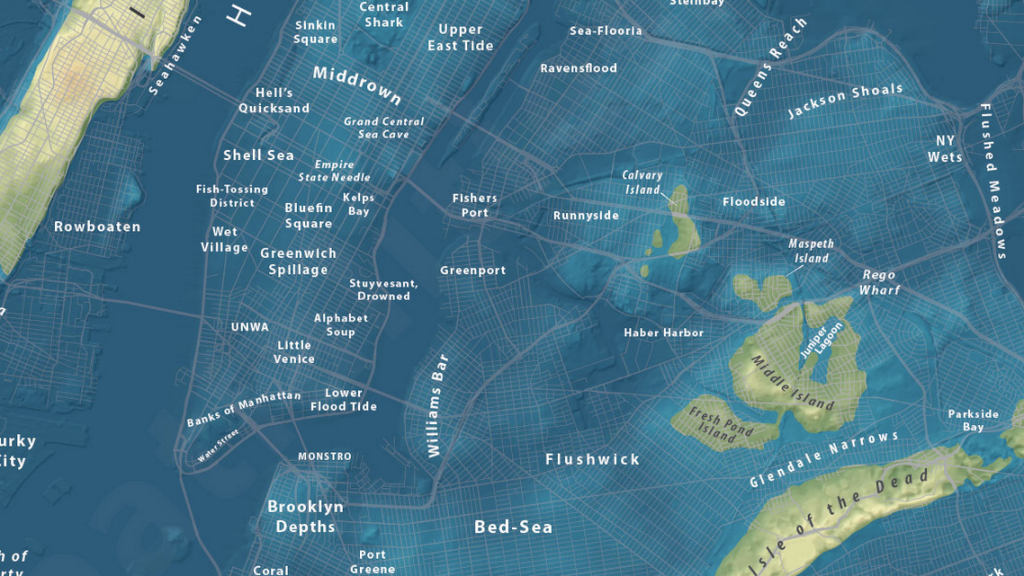 Map Of Uk If Sea Levels Rise.Maps Of Cities If 1 3 Ice Sheets Melted Bay Of La And Ny Sea