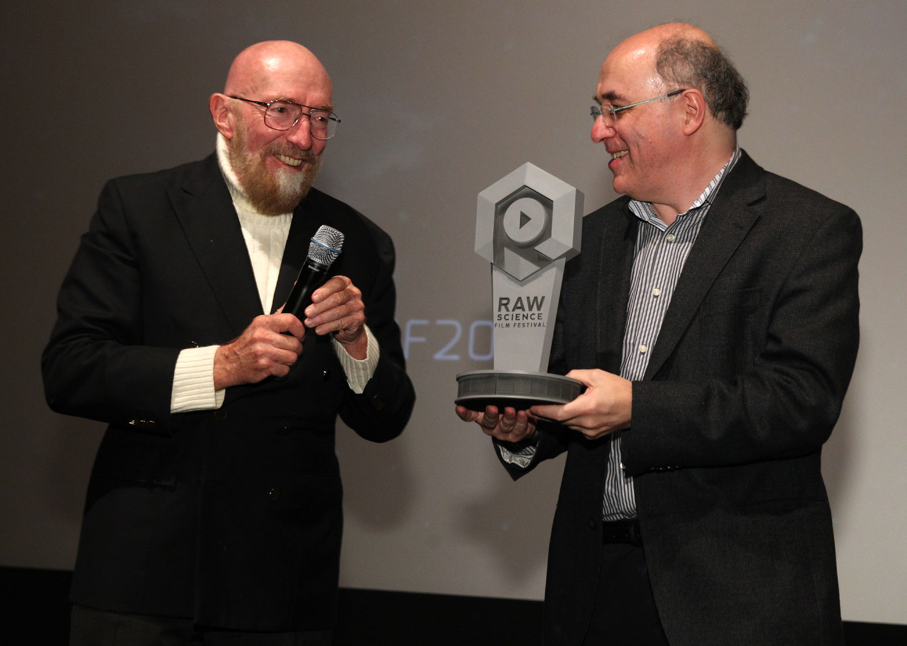 Dec. 10, 2016, Los Angeles,Ca.  --- Raw Science Film Festival, Zanuck Theater, Fox Studios   --- Chris Farina (Kip Thorne, Stephen Wolfram)